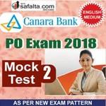 Buy Canara Bank PO Mock Test - 2nd Edition @ safalta.com