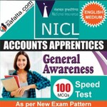 Buy NICL Accounts Apprentices 100 Mcqs General Awareness Speed Test @ safalta.com