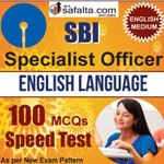 Buy SBI SO 100 Mcqs English Language Speed Test @ safalta.com