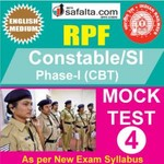 RPF Constable/SI Online Mock Test 4 @ Safalta.com
