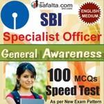 Buy SBI SO 100 Mcqs General Awareness Speed Test @ safalta.com