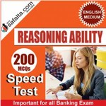 Reasoning Ability 200 Mcqs Speed Test For All Banking Exams @ safalta.com
