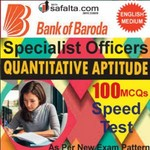 Buy BOB Specialist Officer 100 Mcqs Quantitative Aptitude Speed Test @ safalta.com