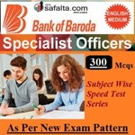Buy 300 Mcqs Subject Wise Speed Test Series For BOB Specialist Officer