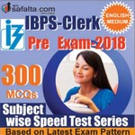Buy 300 Mcqs Subject Wise Speed Test Series For IBPS Clerk