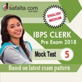 IBPS Clerk Pre Mock Test