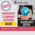 Current Affairs August 2018 - Monthly Quiz In English