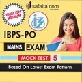 Buy Mock Test-5 for IBPS PO Mains Exam 2018 @ Best Prices