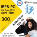 Buy Sure-Shot Subject wise Test Kit For IBPS PO Pre Exam-2018