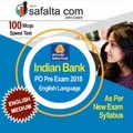 Buy Indian Bank PO 2018 Speed Test for English Language