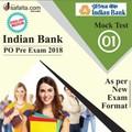 Buy Online Mock Test(1) for Indian Bank PO Exam 2018