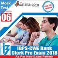 Buy IBPS- Clerk Pre Exam Mock Test 6th Edition @ safalta.com