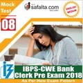 Buy IBPS- Clerk Pre Exam Mock Test 8th Edition @ safalta.com
