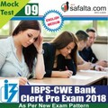 Buy IBPS- Clerk Pre Exam Mock Test 9th Edition @ safalta.com