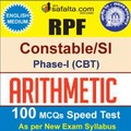 Buy RPF Constable/SI 100 Mcqs Arithmetic Speed Test @ safalta.com