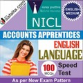 Buy NICL Accounts Apprentices 100 Mcqs English Language Speed Test @ safalta.com