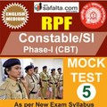 RPF Constable/SI Online Mock Test 5 @ Safalta.com