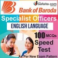 Buy BOB Specialist Officer 100 Mcqs English Language Speed Test @ safalta.com