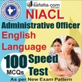 Buy NICL Administrative Officer Pre English Online Speed Test @ Safalta.com