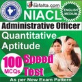 Buy NICL Administrative Officer Quantitative Aptitude Online Speed Test @ Safalta.com