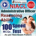 Buy NICL Administrative Officer Reasoning Ability Online Speed Test @ Safalta.com