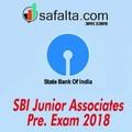 SBI Junior Associates Pre Exam - 2018 (H)