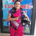 Sheetal Rane Claimed A World Record By Diving Into The Sky Wearing A Saree