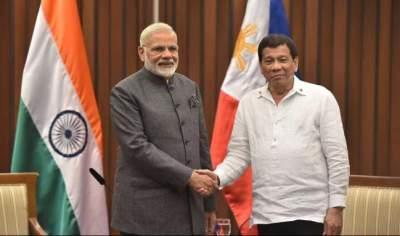 Prime Minister Narendra Modi and the President of the Philippines, Rodrigo Dutter