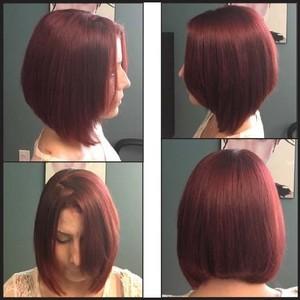Square color cut redhead