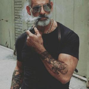 Old men salt pepper beard