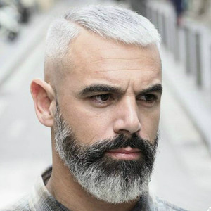 Caesar haircut for older men