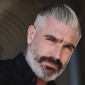 Short haircuts for older men taper fade slicked back hair