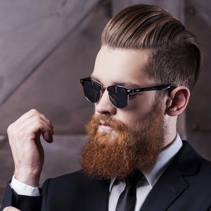 Mens hairstyles with beard 1