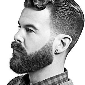 Classic look full beard style
