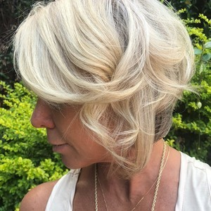 Kelli miner   side view   highlights  color  haircut    style   douglas carroll salon   downtown   august 13th  2018