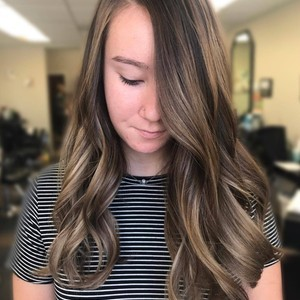 Balayage  haircut    style   mister rogers hairstyling   august 20th  2017