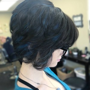 Melissa couch   color  haircut    style   mister rogers hairstyling   march 11th  2018