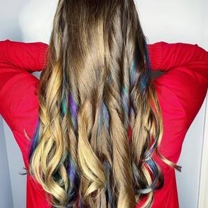 Allison yost   color  peek a boos  haircut    style   tone hair salon   january 6th  2019
