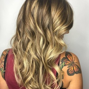 Higlights  haircut    style   back side view   tone hair salon   october 18th  2018