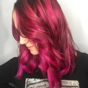 Pink hair don't care   tone hair salon   front   october 30th  2018