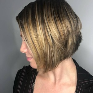 Sarah cunningham   balayage  haircut    style   tone hair salon   front   side   january 9th  2019