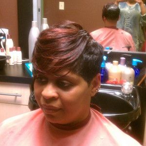 Sideview of red highlights
