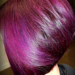 Violet plum bob