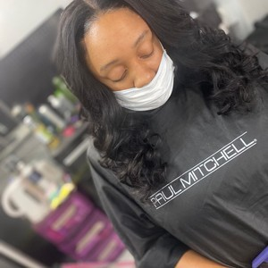Sew in middle