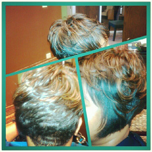 Cap weave cut and relaxer