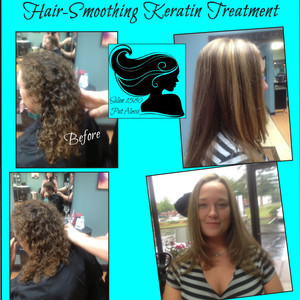 Keratin before after