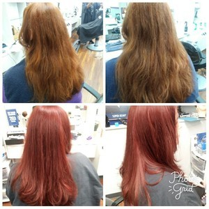 Color with long layer cut