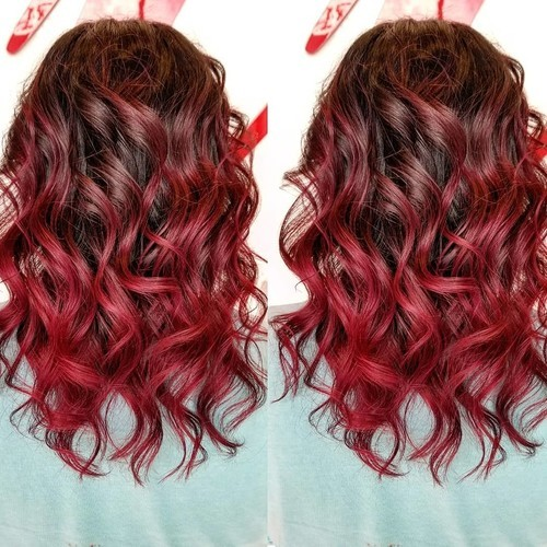 Valparaiso indiana red balayage hair