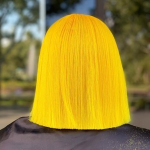 Winter springs yellow fashion color hair