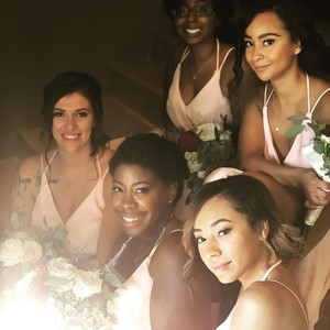 Winter garden bridal party makeup